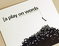 A Play on Words | Photography Book