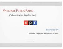 NPR IPad App-Usability Analysis
