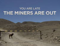 """Film titles """"THE MINERS ARE OUT"""""""