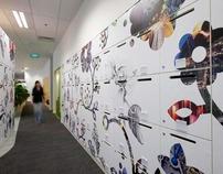 HSBC Office Interior Graphics & Signage Design