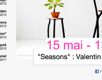 French minimal Art gallery  / Webdesign