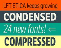 LFT Etica, 24 NEW FONTS!