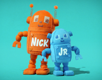 "Nick Jr ""Huggables"" Logo IDs 2008 ( robots)"