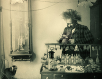 Man That Loved Butterflies -Vintage Photograph Makeover