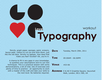 Poster - Love Typography - School Project