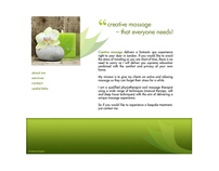 Webpage for a masseur