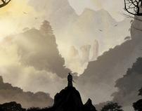 A Samurai's journey - Matte Painting