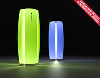 Table lamp with integrated function of ionizer