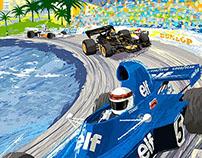 Retro style 1973 Monaco Grand Prix Poster