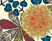 Wycinanki (Polish paper-cutting) Style Pattern