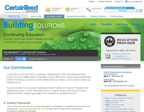 Continuing Education Sitelette for Building Materials