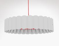 Paper lamp shade for pendant lighting