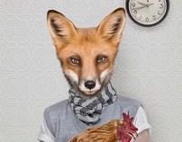 Dossier magazine South Africa fox illustration
