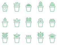 Succulent icon set | free download
