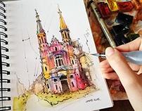 Hello Warsaw! - architecture sketches #1