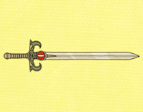 10 of the Most Iconic Swords in Fiction ( infographic )