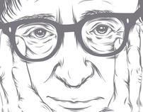Woody Allen Line Art