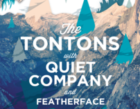 The Tontons & Quiet Company Concert Poster