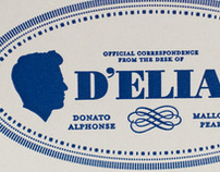 D'Elia Letterpress Postcard