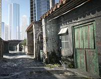 Asian Alley - 3D Modelling & Matte Painting
