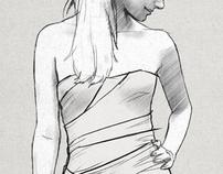 Dress Sketch for Natasha
