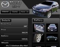 Mazda CX-7 Webpage Advertisement