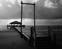 A Day At The Beach - In Black and White