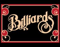 Billiards Typography Poster