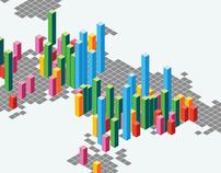 100 biggest cities 2010 - infographic