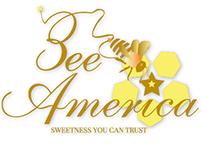 Bee–America Honey branding/packaging