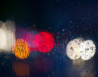 Cars, Rain & Window Pane