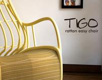 Tigo rattan easy chair