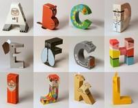 Papercraft alphabet