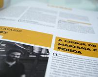 Jornal de Letras (newspaper re-design) school work