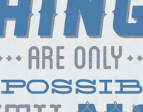 Things are only impossible until they're not