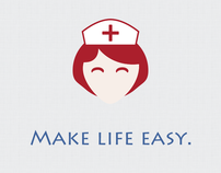 Mobile health app landing page style