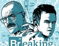 Breaking Bad Blue Sky Fan Art Poster