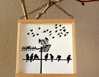 """Hanging prints """"Among Humans"""""""