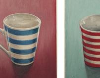 Stripy cups. 2012