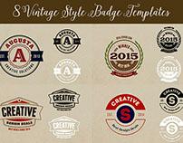 8 Free Vintage Style Logos/Badges