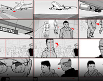Detained: Storyboards for 3D Animation