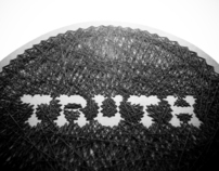embroidery on paper : seek the truth