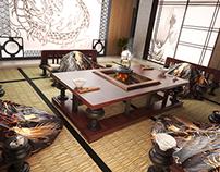 Dragon Karma. Room Visualisation. 3Ds Max & Vray