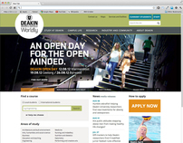 Deakin University web site update 2012