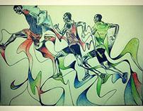 Nike running spring free 2015 drawing part 1