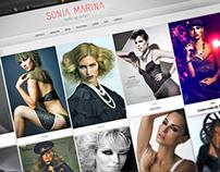 Website Sonia Marina | Wake up and hair