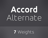 Accord Alternate Font Family