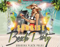 Sunrise Beach Party Poster