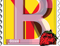 [Straw]berry Postage Stamp