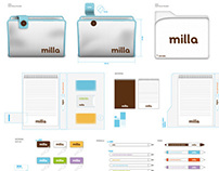 """""""Milla"""" Stationery and Guidelines Decoration"""